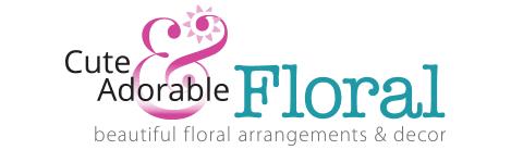 cute adorable floral logo
